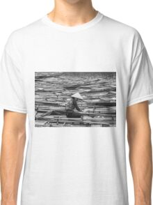 Vietnamese Boat Lady in Tam Coc Classic T-Shirt