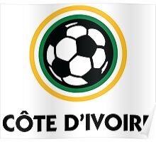 Football coat of arms of Côte d Ivoire Poster