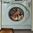 Sneaker Laundry Pizza Day by GolemAura