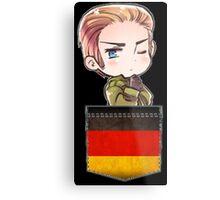 Germany Chibi Pocket Metal Print