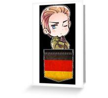 Germany Chibi Pocket Greeting Card