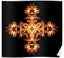 Energetic Geometry -  Phoenix Sigil Cross of Fire Poster