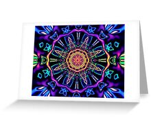 """Return to Awe"" - Psychedelic Abstract Mandala  Greeting Card"