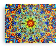 Psychedelic Melting Pot Mandala   Metal Print