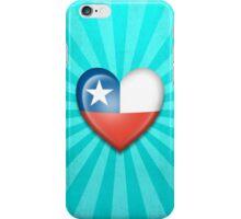 Chilean Heart Flag iPhone Case/Skin