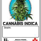 Cannabis Indica Jar Label by kushcoast