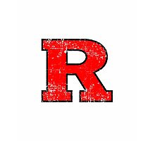 Rutgers grunge Photographic Print