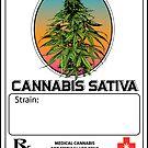 Cannabis Sativa Jar Label by kushcoast