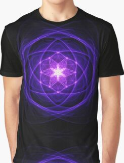 Energetic Geometry - Indigo Prayers Graphic T-Shirt
