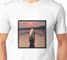 Rower at sunset Unisex T-Shirt