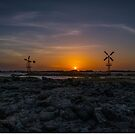 Windmills at Sunset by dcdigital