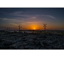 Windmills at Sunset Photographic Print