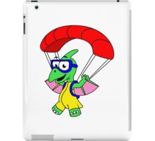 Illustration of a pterodactyl parachuting. iPad Case/Skin