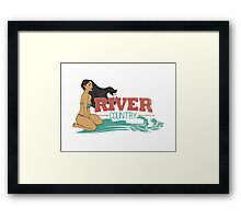 River Country. Just around the river bend ...  Framed Print