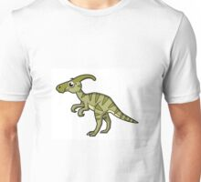 Cute illustration of a Parasaurolophus dinosaur. Unisex T-Shirt