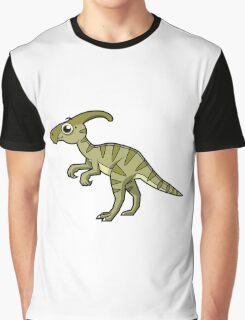 Cute illustration of a Parasaurolophus dinosaur. Graphic T-Shirt