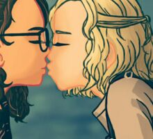 First Kiss Sticker