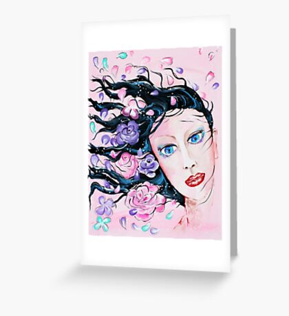 Spring Breeze - Woman Art by Valentina Miletic Greeting Card