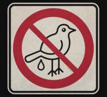 Forbidden Street Sign for Birds by PopAlien