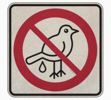 Forbidden Street Sign for Birds Kids Tee