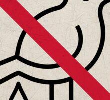 Forbidden Street Sign for Birds Sticker