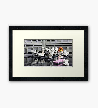 Stormtrooper Yoga Framed Print