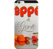 Peppers and garlic. iPhone Case/Skin