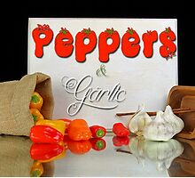 Peppers and garlic. by Dipali S