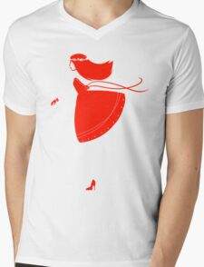 Simply Red Mens V-Neck T-Shirt