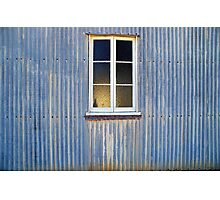 Window in a Corrugated Iron Wall Photographic Print