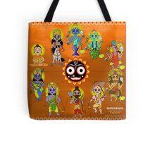 Dashavatara - 10 forms of Vishnu Tote Bag