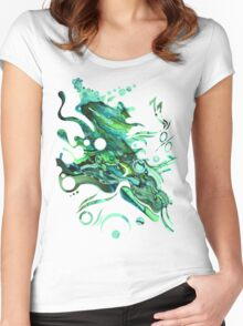 Approaching Eleven Percent From Behind  - Watercolor Painting Women's Fitted Scoop T-Shirt