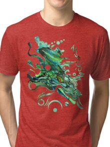 Approaching Eleven Percent From Behind  - Watercolor Painting Tri-blend T-Shirt