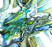 Approaching Eleven Percent From Behind  - Watercolor Painting by jeffjag