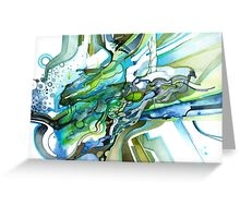Approaching Eleven Percent From Behind  - Watercolor Painting Greeting Card
