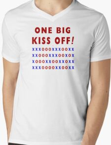 One Big Kiss Off Mens V-Neck T-Shirt