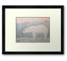 Polar Bear on Ice Framed Print