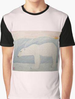 Polar Bear on Ice Graphic T-Shirt