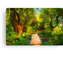 Into Wood Canvas Print