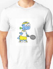 Illustration of a Tyrannosaurus Rex tennis player. T-Shirt