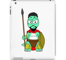 Illustration of a Tyrannosaurus Rex dressed as Leonidas. iPad Case/Skin