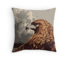 Eagle Eye In The Big Smoke Throw Pillow
