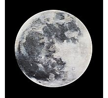 Mini moon painting in acrylic Photographic Print