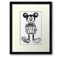 MICKEY#WITH#PUZZLE Framed Print
