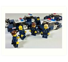 San Jose Police in LEGO Art Print