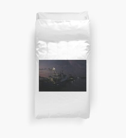 North Arm Fishing Boats Duvet Cover