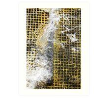Yellow Water Surge Art Print