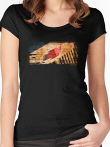 Chevy Rat Rod Badge Women's Fitted Scoop T-Shirt