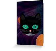 Astro Kitty Greeting Card