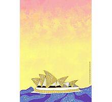 Sydney Opera House - An Aboriginal Take Photographic Print